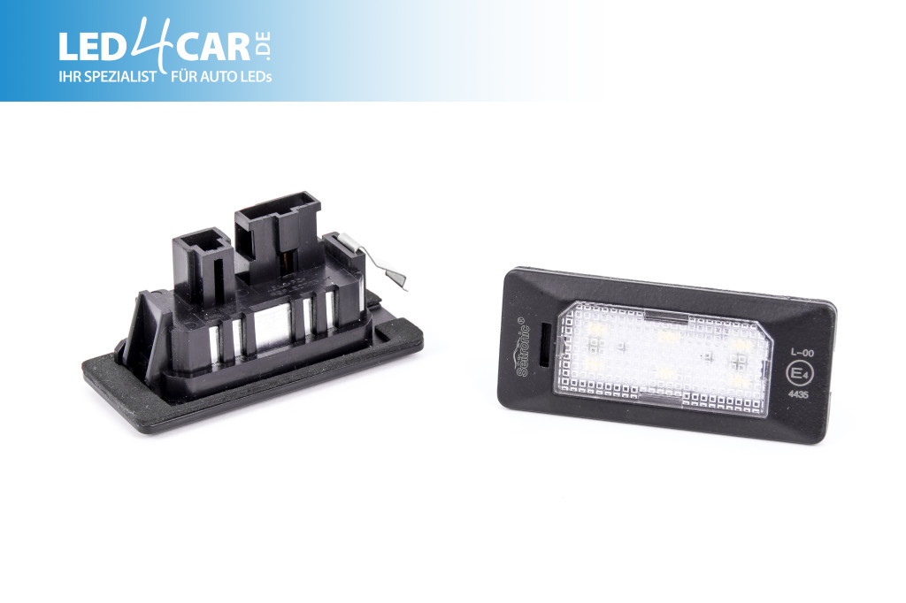 Seitronic LED Kennzeichenbeleuchtung Audi,Skoda,Seat,VW