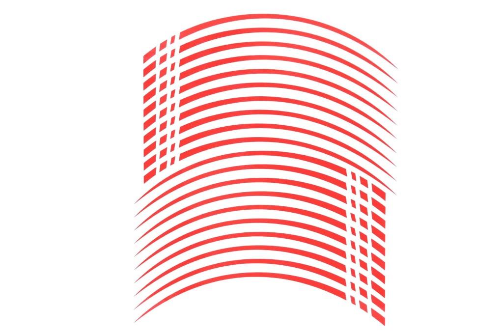 Glossy China Red Seitronic felgenaufkleber